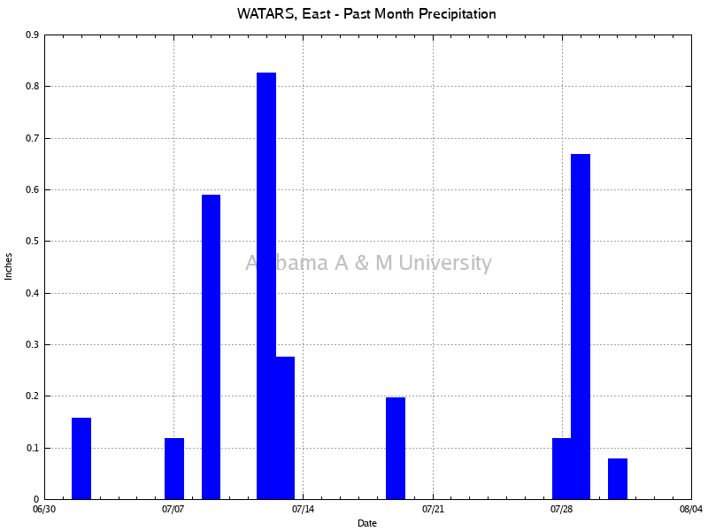WATARS, East: Precipitation Past Month