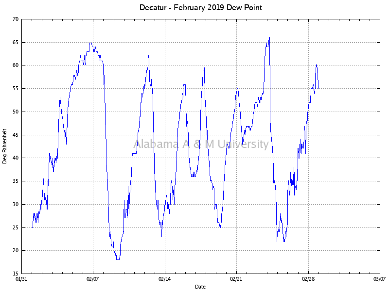 Decatur: Dew Point February, 2019